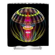 Alien Sphere Fractal Fantasy Shower Curtain