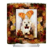 Christmas Westie Shower Curtain