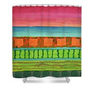 Sultry Day At The Seaside  Shower Curtain