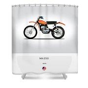 Harley Davidson Mx-250 Shower Curtain