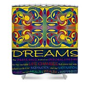 Colorful Dreams Motivational Artwork By Omashte Shower Curtain