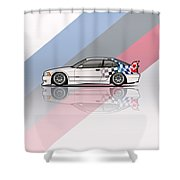 Bmw 3 Series E36 M3 Gtr Coupe Touring Car Shower Curtain
