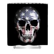 American Skull Shower Curtain