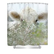 I See You - Sparkle Squares Shower Curtain