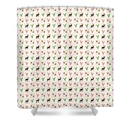 Rustic Wildlife Pattern Shower Curtain