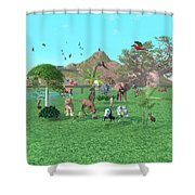 An Exotic Wild Animal Scene Shower Curtain