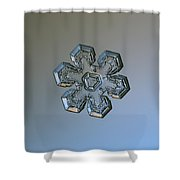 Snowflake Photo - Massive Silver Shower Curtain by Alexey Kljatov