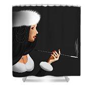 Lady Ninotschka Shower Curtain