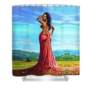 Summer Blossom Shower Curtain