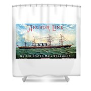1885 Steamship City Of Rome Shower Curtain