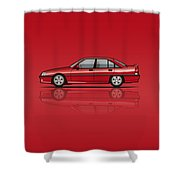 Opel Omega A, Vauxhall Carlton 3000 Gsi 24v Red Shower Curtain