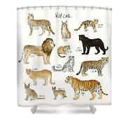 Wild Cats Shower Curtain