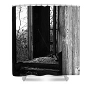 Echoes - Monochrome Version Shower Curtain