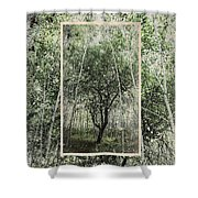 Blue Vintage Hand Of God Apple Tree Shower Curtain