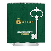 Open New Doors Business Quotes Poster Shower Curtain