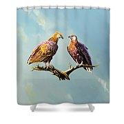 Madagascar Fish Eagle  Shower Curtain