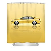 Holden Monaro Vz Cv8 Yellow Shower Curtain