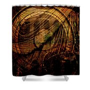 Horloge Astronomique Shower Curtain by Sarah Vernon