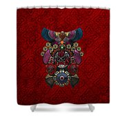 Chinese Masks - Large Masks Series - The Demon Shower Curtain by Serge Averbukh