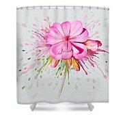 Pink Eruption Shower Curtain
