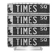 Times Square New York City Street Sign Deco Swing Shower Curtain