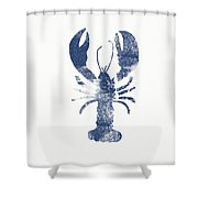 Blue Lobster- Art By Linda Woods Shower Curtain