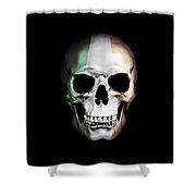 Irish Skull Shower Curtain