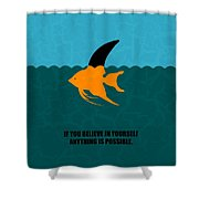 If You Believe In Yourself Anything Is Possible Corporate Startup Quotes Poster Shower Curtain
