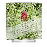 Army Of One - Quote Shower Curtain