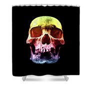 Pop Art Skull Face Shower Curtain