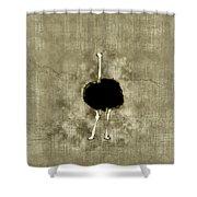 Ostrich Portrait Shower Curtain