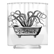 Tentacles In The Tub Shower Curtain
