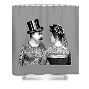 Tattooed Victorian Lovers Shower Curtain