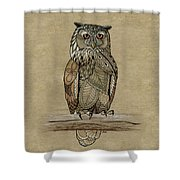 Paper Bag Owl Shower Curtain