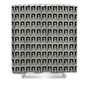 Cassius Clay World Champion Stamp Shower Curtain