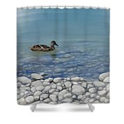Clear Water  Shower Curtain