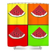 Tiled Watermelon Shower Curtain