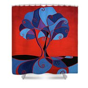 Enveloped In Red Shower Curtain