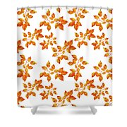 Black Cherry Pressed Leaf Art Shower Curtain