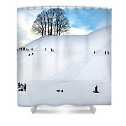 Winter Fun Shower Curtain