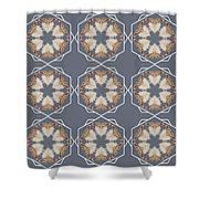 White Ibis Snowflake Shower Curtain