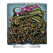 Dragon In Thorns Shower Curtain