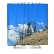 At The End Of The World Shower Curtain