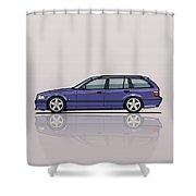 Bmw E36 328i 3-series Touring Wagon Techno Violet Shower Curtain