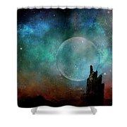 Planetary Soul Chava Shower Curtain