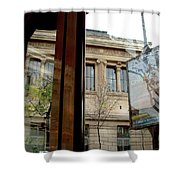 Paris Cafe Views Reflections Shower Curtain