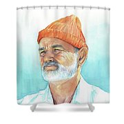 Bill Murray Steve Zissou Life Aquatic Shower Curtain