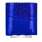 Blue Divide Shower Curtain