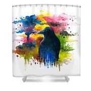 Bird 71 Crow Raven Shower Curtain