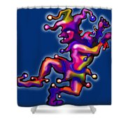 Jester On Blue Shower Curtain